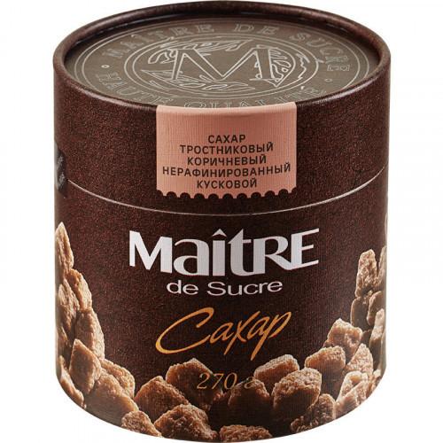 Сахар кусковой Maitre de Sucre тростниковый 270 грамм