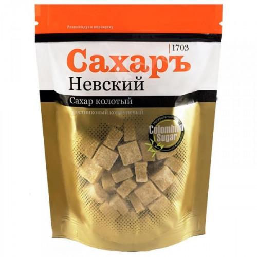 Сахар кусковой прессованный колотый тростниковый Сахаръ Невский 420 грамм