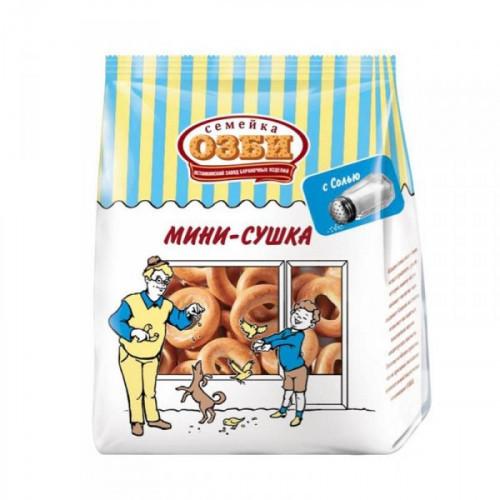 Мини-сушки Семейка Озби с солью 150 грамм