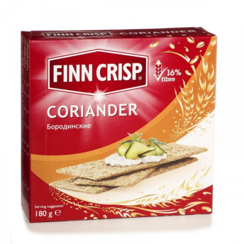 Хлебцы FINN CRISP Coriander бородинские с кориандром 180 грамм