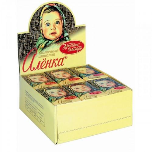 Шоколад Аленка молочный 42 штуки по 15 грамм
