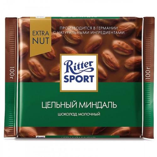 Шоколад Ritter Sport молочный с цельным миндалем 100 грамм