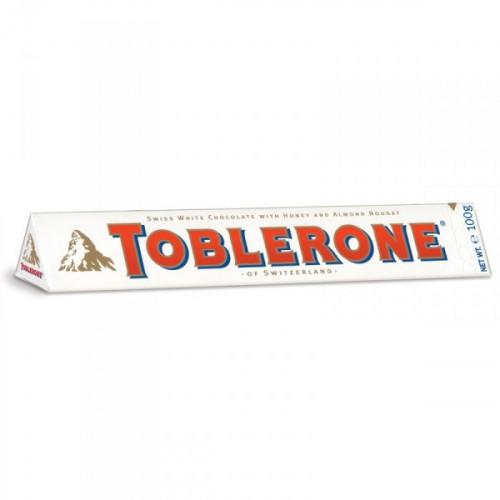 Шоколад Toblerone белый с нугой 100 грамм