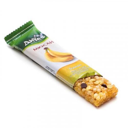 Батончик мюсли ДиYes банан без сахара с шоколадными каплями 25 грамм