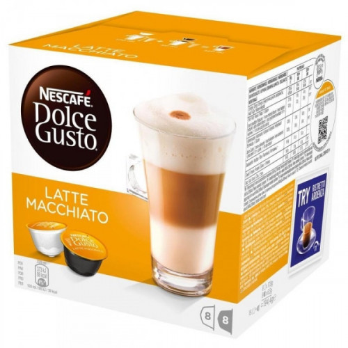 Капсулы для кофемашин Nescafe Dolce Gusto Латте 16 штук в упаковке