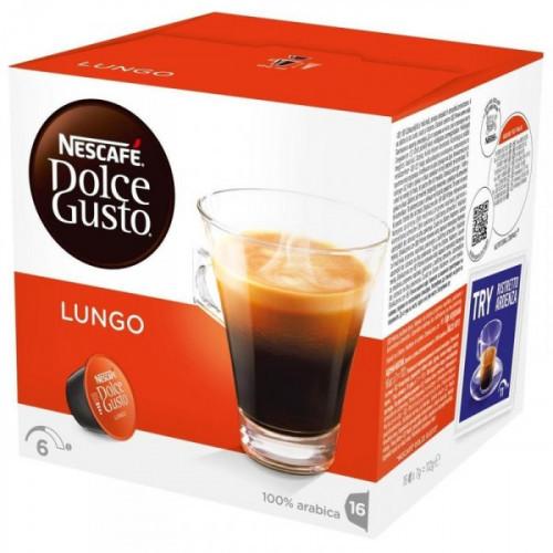 Капсулы для кофемашин Nescafe Dolce Gusto Лунго 16 штук в упаковке