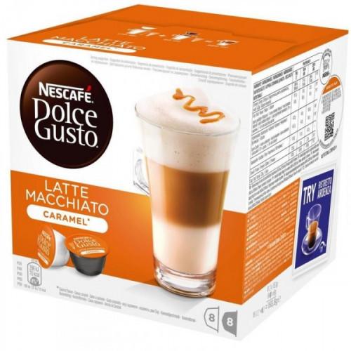 Капсулы для кофемашин Nescafe Dolce Gusto Латте Макиато со вкусом карамели 16 штук в упаковке