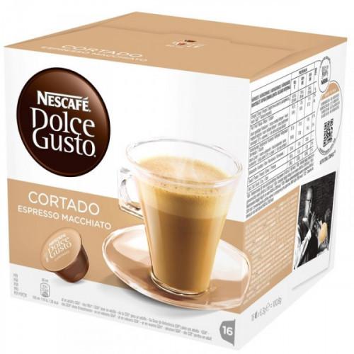 Капсулы для кофемашин Nescafe Dolce Gusto эспрессо с молоком 16 штук в упаковке