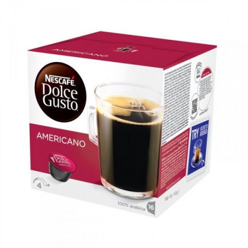 Капсулы для кофемашин Nescafe Dolce Gusto американо 16 штук в упаковке