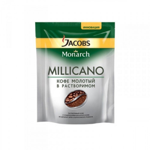Кофе растворимый Jacobs Monarch Millicano 75 грамм пакет