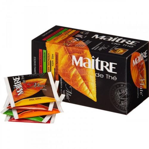 Чай Maitre Mate зеленый ассорти 25 пакетиков