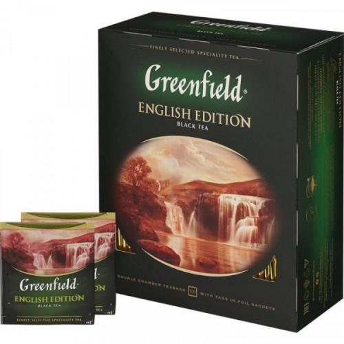 Чай Greenfield English Edition черный 100 пакетиков