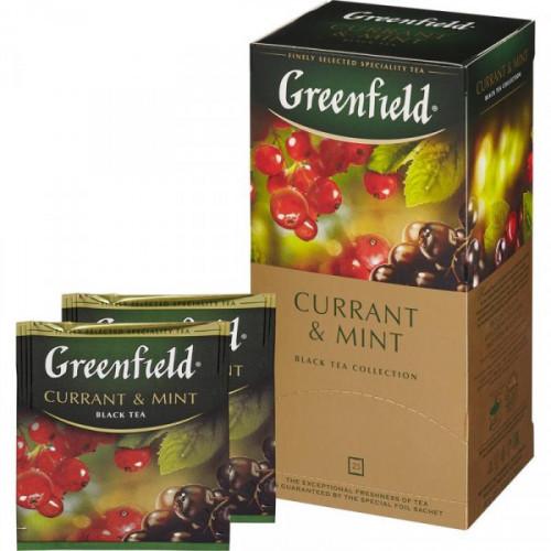 Чай Greenfield Currant and Mint черный 25 пакетиков