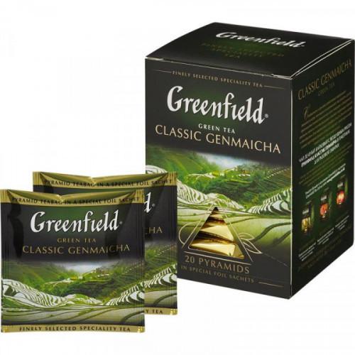 Чай Greenfield Genmaicha зеленый 20 пакетиков