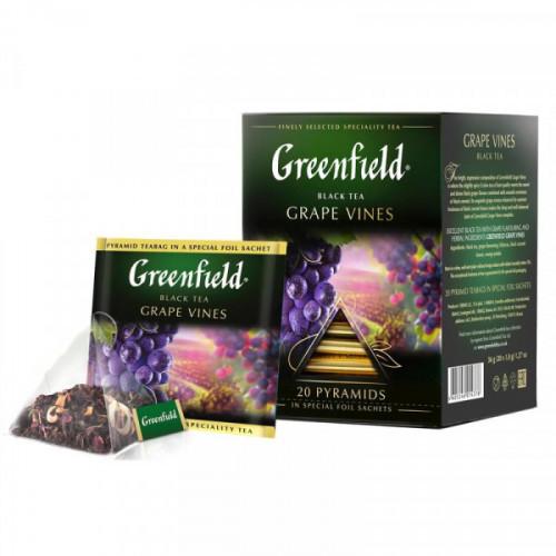 Чай Greenfield Grape Vines черный виноград/смородина/гибискус 20 пакетиков