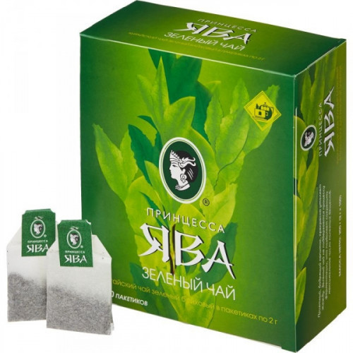 Чай Принцесса Ява зеленый 100 пакетиков