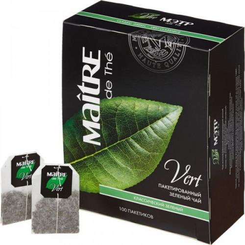 Чай Maitre de tea Vert зеленый 100 пакетиков
