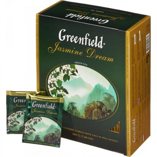 Чай Greenfield Jasmine Dream зеленый 100 пакетиков