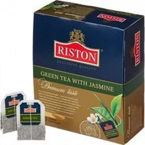 Чай Riston Green Tea зеленый с жасмином 100 пакетиков