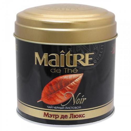 Чай Maitre the tea Noir Де Люкс черный листовой 100 грамм