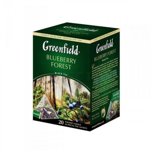Чай Greenfield Blueberry Forest черный с черникой 20 пакетиков
