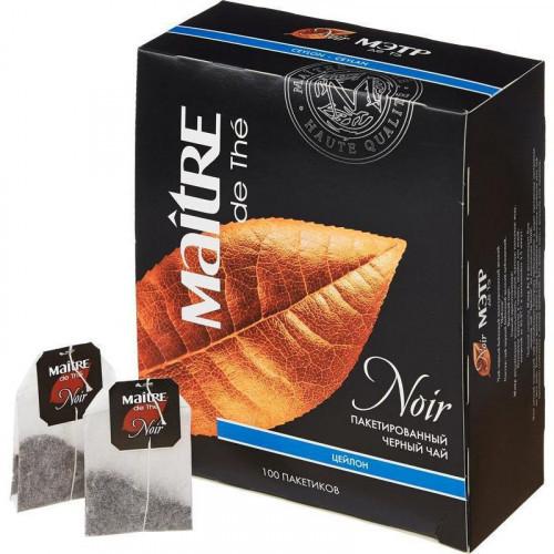 Чай Maitre de Tea Noir черный 100 пакетиков