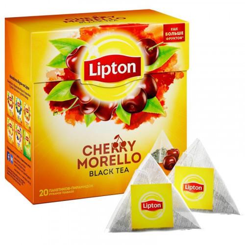 Чай Lipton Cherry Morello черный с вишней 20 пакетиков