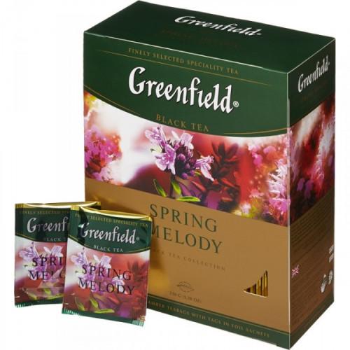 Чай Greenfield Spring Melody черный с чабрецом 100 пакетиков