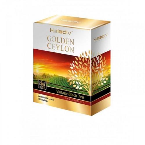 Чай черный Heladiv Golden Ceylon 100 пакетиков