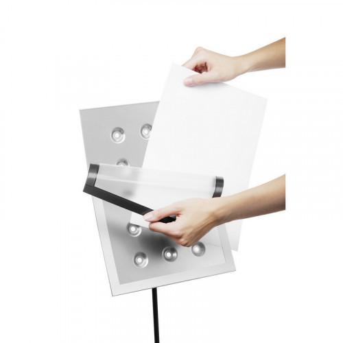 Информационный стенд напольный Durable Duraview А4 металлический серебристый (магнитная рамка)