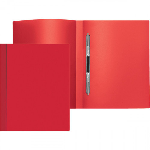 Папка-скоросшиватель пружинный, А4, 500мкм, 15 мм, пластик, красная, Attomex