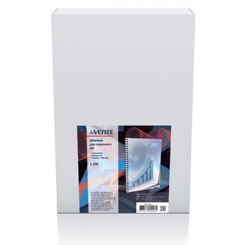 """Обложка для переплета  A4 """"deVENTE"""", толщина 200 мкм, пластик прозрачный, 100 листов"""