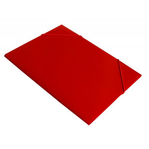 Папка на резинке непрозрачная красная А4 пластик 0.40 мм
