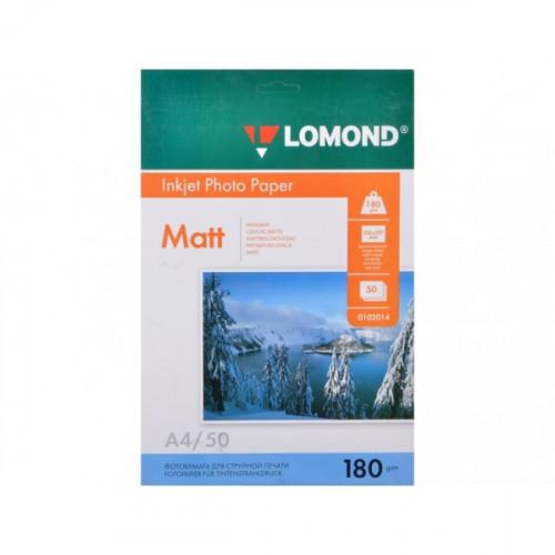 Бумага Lomond A4 180 г/м2 50 листов матовая для струйной печати