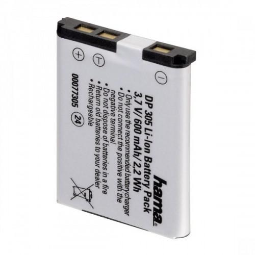 Аккумулятор Hama H-77344 Li-Ion DP 344 3.7В/850мАч для фотокамер Olympus/Pentax/Ricoh