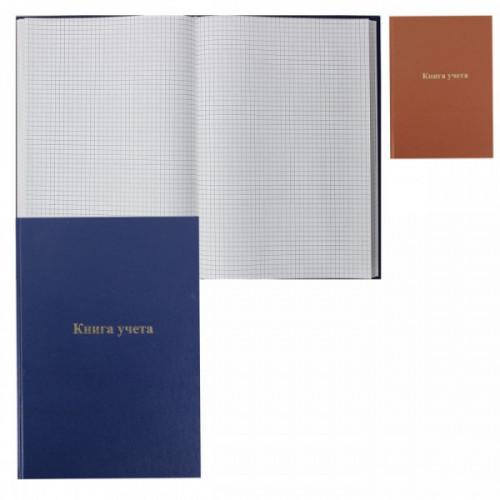 Книга учета А4, 144 листа, бумвинил, КУ-531, клетка