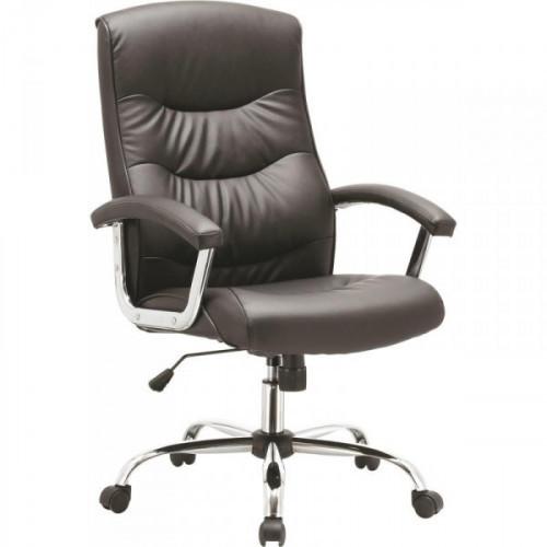 Кресло для руководителя EChair-550 TR черное рециклированная кожа с компаньоном/металл