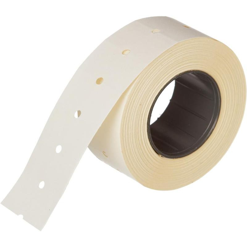 Этикет-лента 21,5х12 мм белая прямоугольная 800 штук/рулон 200 рулонов/упаковка