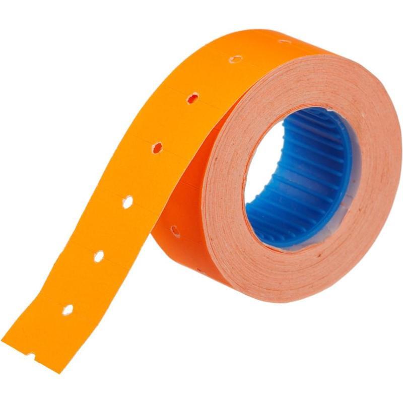Этикет-лента 21,5х12 мм оранжевая прямоугольная 800 штук/рулон 200 рулонов/упаковка