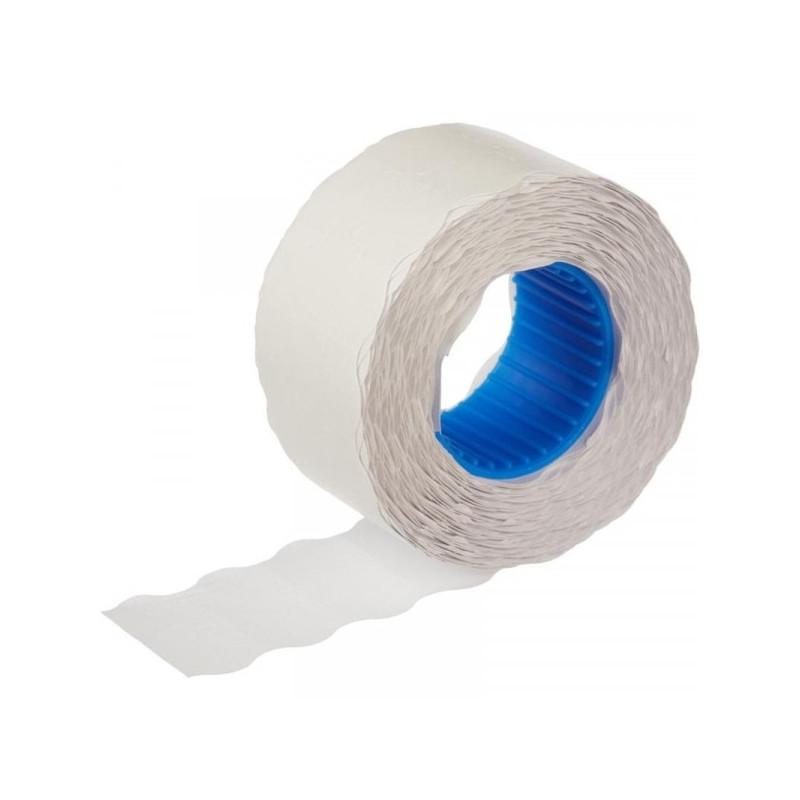 Этикет-лента 26х12 мм белая волна 800 шт в рулоне 200 рулонов в упаковке