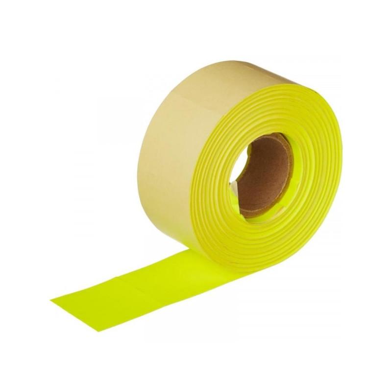 Этикет-лента 29х28 мм желтая прямоугольная 700 штук/рулон 10 рулонов/упаковка