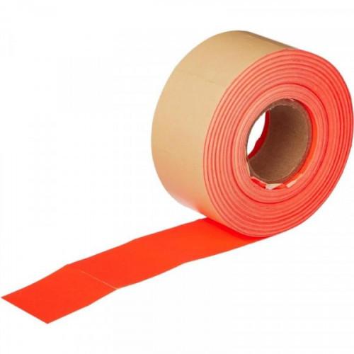 Этикет-лента 29х28 мм красная прямоугольная 700 штук/рулон 10 рулонов/упаковка