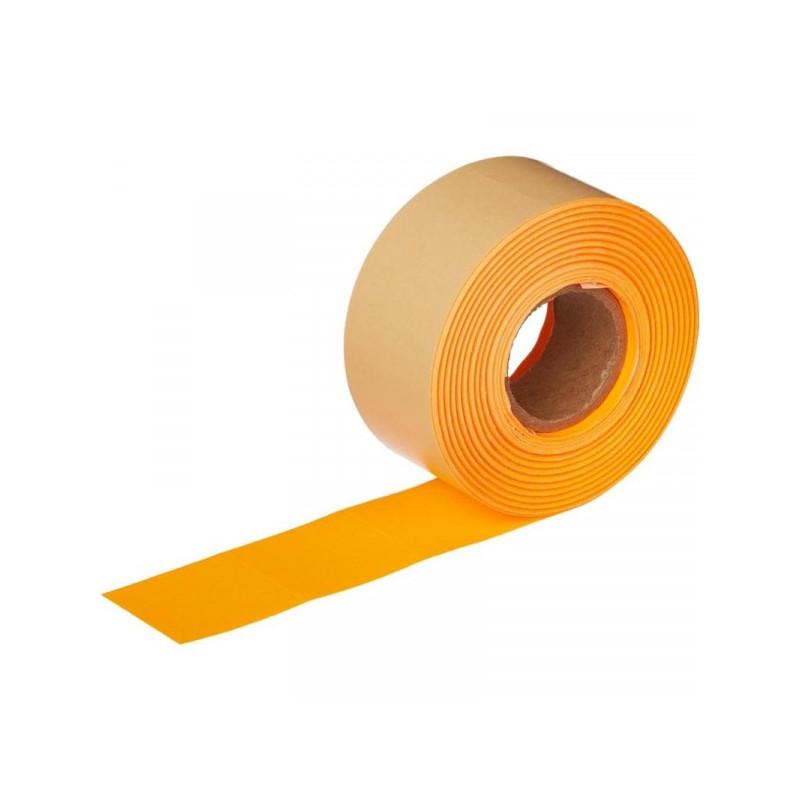 Этикет-лента 29х28 мм оранжевая прямоугольная 700 штук/рулон 10 рулонов/упаковка
