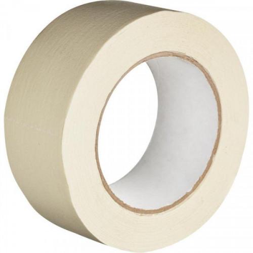 Клейкая лента малярная белая 48 мм х 50 метров легко удаляемая