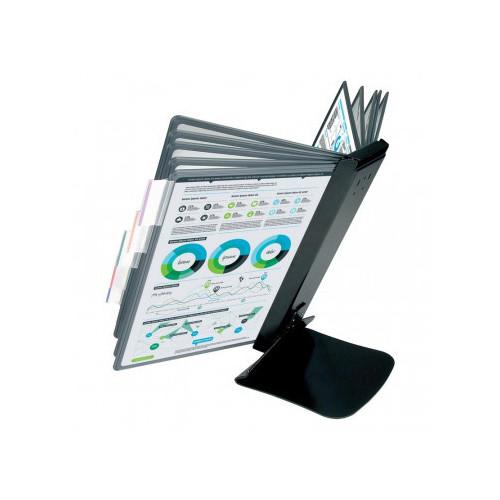 Демо-система MEGA Office FDS016 настольная металлическая основа 10 панелей черный