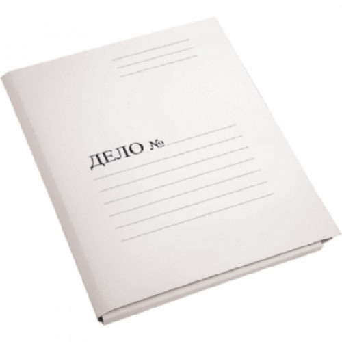 Папка-скоросшиватель, мелованный картон, 450г/м2, белая, A4, deVENTE Дело