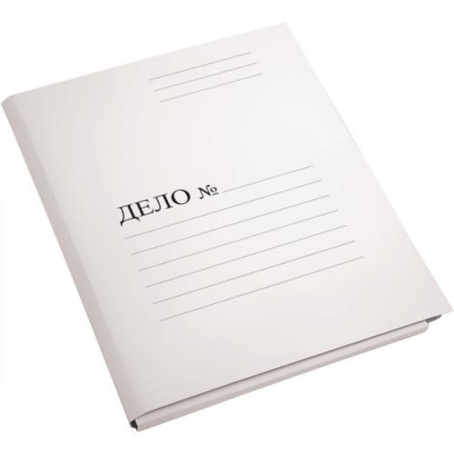 Скоросшиватель Дело, А4, 280г/м2, пробитая, картон мелованный, белая, deVENTE