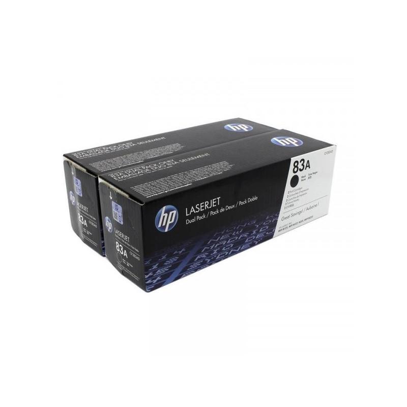 Картридж лазерный HP 83A CF283AD черный оригинальный 2 штуки