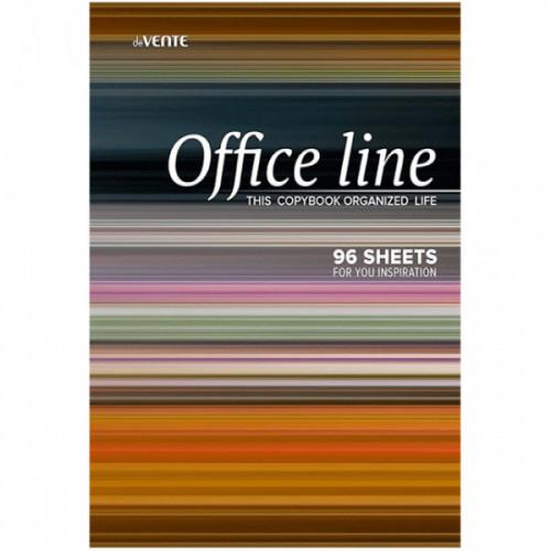 """Тетрадь A4 96 листов """"deVENTE. Office line"""" в клетку, обложка целлюлозный картон + ВД-лак, на спирали"""
