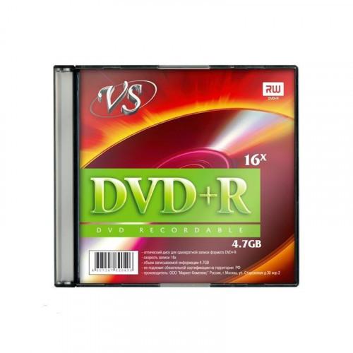 Носители информации DVD+R VS 4,7GB 16x Slim 5 штук
